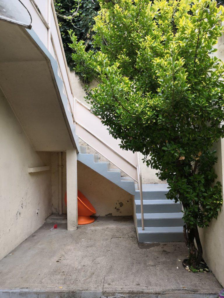 escalier extérieur après
